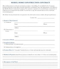 15 Sample Construction Contract Templates Free Sample Example