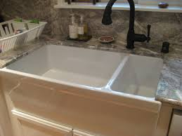 porcelain farmhouse kitchen sink granite top for elegant white porcelain sinks undermount sink full