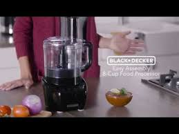 Black+Decker <b>3-in-1</b> Easy Assembly <b>8</b>-Cup Food Processor - YouTube