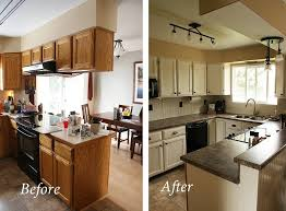 inexpensive kitchen remodel before and after
