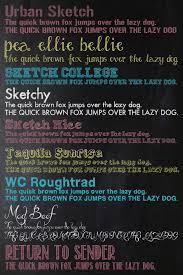 chalk font list three