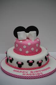 Red Minnie Mouse 1st Birthday Cake Classic Style Cute Minnie