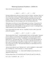 fetching chemical word equations worksheet answers tessshlo chemistry balanci