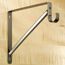 heavy duty closet rods and brackets ideas rod support