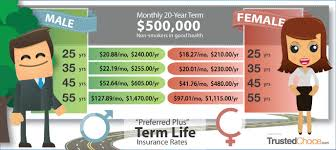 20 Year Term Life Insurance Rate Chart 20 Year Term Life Insurance Quote Best Quote Picture In