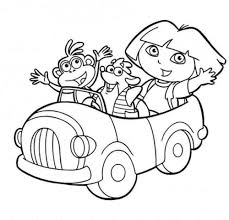 Dora Christmas Coloring Pages Printable Coloring Pages Free