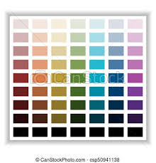 Color Palette Color Shade Chart Vector Illustration