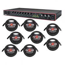 Focusrite Scarlett 18i20 <b>3rd</b> Gen + 8 <b>XLR</b> Cables - ProAudioStar