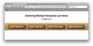Make A List Com Centering List Items Horizontally Slightly Trickier Than You Might