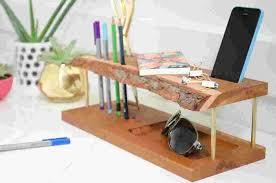 modern wooden diy desk organizer curbly design community