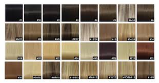 Hair Extension Color Chart Punctual Hair Extension Color Number Chart In Human Remy