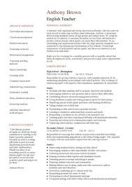 English Teacher Resume Template Samples Resume Templates And Cover