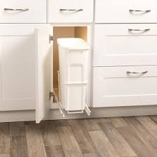 Under cabinet garbage can Waste Container 19 In Marrakchinfo Pull Out Trash Cans Pull Out Cabinet Organizers The Home Depot