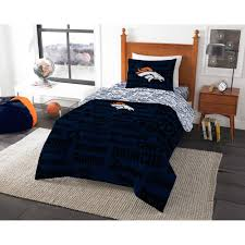 show off your love of football with the nfl denver broncos bedding set