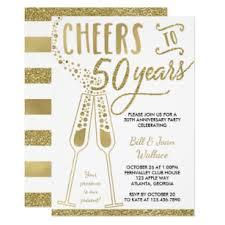 50th Anniversary Party Invitations 50th Wedding Anniversary Invitation Faux Glitter Invitation