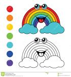 Игра радуга раскраска