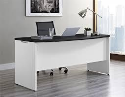 white home office desk. Amazon.com: Ameriwood Home Pursuit Executive Desk, Gray: Kitchen \u0026 Dining White Office Desk 0