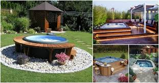 backyard. Amazing Outdoor Jacuzzi Ideas That Will Leave You Breathless