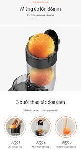 Máy Ép Chậm Đa Năng và Làm Kem Joyoung JYZ-V907 (150W) - Hàng Chính Hãng - Máy  ép trái cây