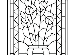 Stained Glass Coloring Page Stained Glass Coloring Pages Free Beauty