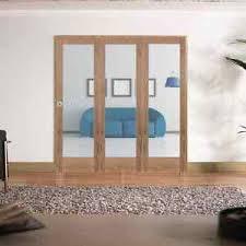 image is loading shaker 1 light clear bifold doors oak clear