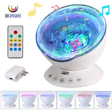 Ocean Wave Projector Night Light Us 10 73 19 Off Remote Control Ocean Wave Projector 12 Led 7 Colors Led Night Light With Built In Mini Music Player For Living Room And Bedroom In
