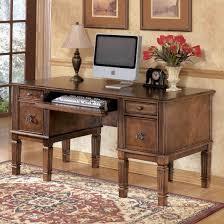 ashley furniture hamlyn home office storage leg desk in medium brown