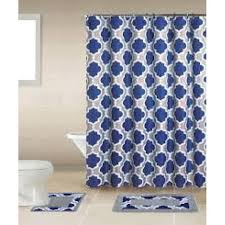 on home dynamix 15 piece bath boutique shower curtain and bath rug set purple gray