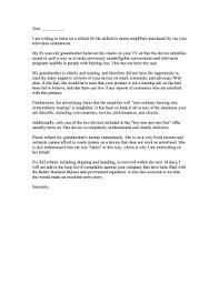 Letter Of Complain Sound Amplifier Complaint Letter