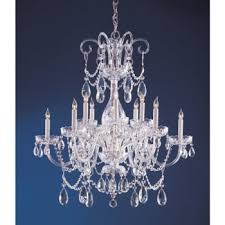crystorama traditional crystal collection 12 light polished chrome crystal chandelier