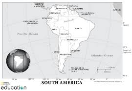 South America Human Geography National Geographic Society
