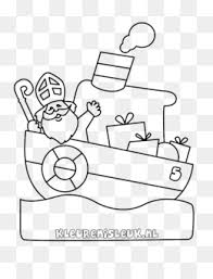 Free Download Pakjesboot 12 Kleurplaat Sinterklaas Drawing Steamboat
