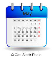 May Calendar Month May Name Of The Month Hand Drawn Vector