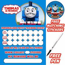Train Sticker Chart Thomas