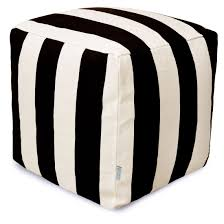 Black And White Pouf Patio Cushions Poufs Comfortable Furniture Majestic Home Goods