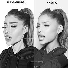 drawing vs photo arianagrande