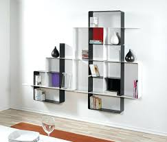 white wall shelf unit shelving units square black stayed