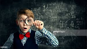 Child Magnifying Glass Amazed School Kid Student Boy With Magnifier Study  Mathematics Math Education High-Res Stock Photo - Getty Images