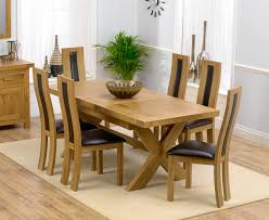 oak dining table with brown leather chairs. bellano solid oak extending dining table - 160-200cm \u0026 6 santander leather chairs option of cream, black or brown with