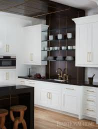 Image Colour Enlarge Traditional Home Magazine Striking Hamptons Showhouse Kitchen Traditional Home