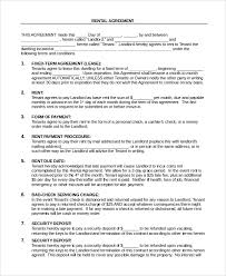 lease agreement sample sample rental agreement 9 examples in pdf word