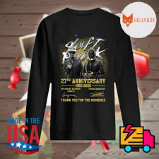 Daft Punk 27th anniversary 1993 2020 Guy Manuel de Homem Christo and Thomas  Bangalter signatures thank you for the memories shirt, hoodie, tank top,  sweater and long sleeve t-shirt