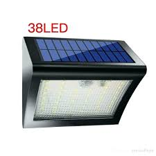 solar powered outdoor security lights led wall light waterproof motion sensor outside reviews pow