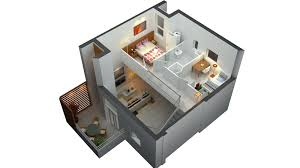 Nice Small House Plan With Loft   D Small Tiny House Floor Plans    Nice Small House Plan With Loft   D Small Tiny House Floor Plans