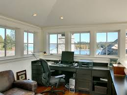 garage with office above. office above garage home traditional with stone facade damp wet listed recessed light trims g