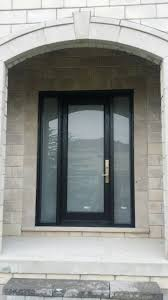 modern entry door frosted glass multi point lock