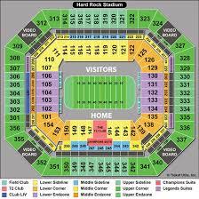 Hard Rock Stadium Seating Chart Hurricanes Stadium Seat Views Online Charts Collection