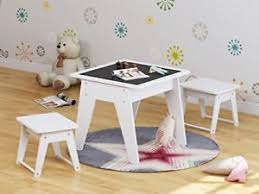 Image is loading Toddler-Table-Set-Writing-Chalkboard-Study-Desk-Chair- Toddler Table Set Writing Chalkboard Study Desk Chair Kids Wood