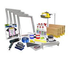 diy 4 color supply kit screen printing starter beginner kit code pink