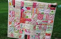 One Color Scrappy Baby Quilt | Easy baby quilt patterns, Scrap ... & One Color Scrappy Baby Quilt Adamdwight.com
